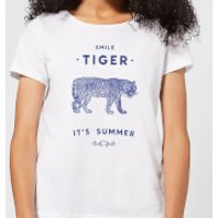 Florent Bodart Smile Tiger Women's T-Shirt - White - XS - White