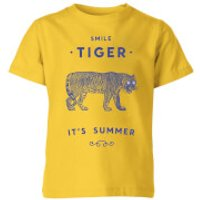 Smile Tiger Kids' T-Shirt - Yellow - 11-12 Years - Yellow - Yellow Gifts