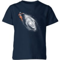 Florent Bodart Space Art Kids' T-Shirt - Navy - 9-10 Years - Navy