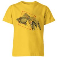 Florent Bodart Fish In Geometry Kids' T-Shirt - Yellow - 7-8 Years - Yellow