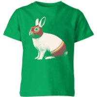 Florent Bodart Lapin Catcheur Kids' T-Shirt - Kelly Green - 7-8 Years - Kelly Green