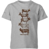 Florent Bodart Cow Cow Nuts Kids' T-Shirt - Grey - 5-6 Years - Grey