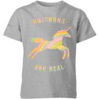 Florent Bodart Unicorns Are Real Kids' T-Shirt - Grey - 3-4 Years - Grey