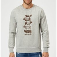 Florent Bodart Cow Cow Nuts Sweatshirt - Grey - S - Grey