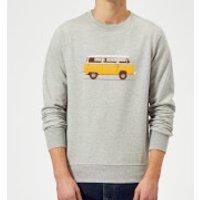 Yellow Van Sweatshirt - Grey - XL - Grey - Yellow Gifts