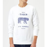 Florent Bodart Smile Tiger Sweatshirt - White - S - White