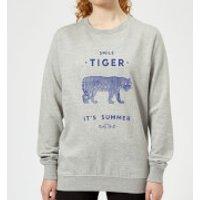 Florent Bodart Smile Tiger Women's Sweatshirt - Grey - XL - Grey