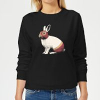 Florent Bodart Lapin Catcheur Women's Sweatshirt - Black - XXL - Black