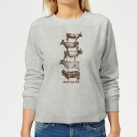 Florent Bodart Cow Cow Nuts Women's Sweatshirt - Grey - M - Grey