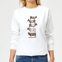 Florent Bodart Cow Cow Nuts Women's Sweatshirt - White - XS - White - Cow Gifts