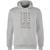 Florent Bodart Fish In Geometric Pattern Hoodie - Grey - S - Grey