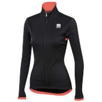 Sportful Women's Luna SoftShell Jacket - M - Black/Coral Fluo