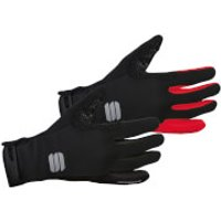 Sportful Wind Stopper Essential 2 Gloves - S - Black/Yellow Fluo