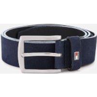 Tommy Hilfiger Men's Denton Nubuck Belt - Navy - W34 - Blue