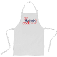British Cook Apron - White - Cook Gifts