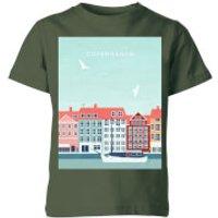 Copenhagen Kids' T-Shirt - Forest Green - 3-4 Years - Forest Green