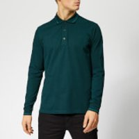 HUGO Men's Donol LS Polo Shirt - Dark Green - S - Green