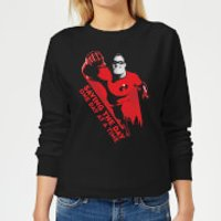 Incredibles 2 Saving The Day Women's Sweatshirt - Black - L - Black