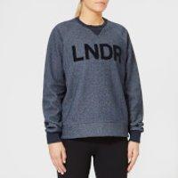 LNDR-Womens-Crew-Neck-Sweatshirt-Navy-Marl-L-Blue