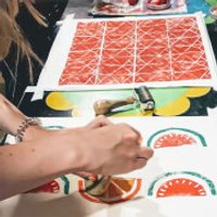 Make Your Own Lino Printed Cushion Cover or Tea Towel