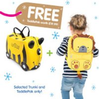 Trunki Bernard Bee Ride on Case (Includes Free Leeroy ToddlePak Backpack) - Ride On Gifts