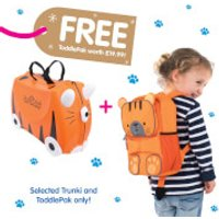 Trunki Tipu Tiger Ride on Case (Includes Free Tipu ToddlePak Backpack) - Trunki Gifts