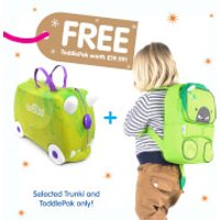 Trunki Rex the Dino Ride on Case (Includes Free Dino ToddlePak Backpack) - Ride On Gifts