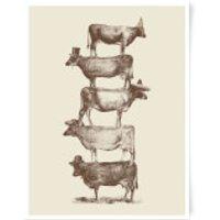 Cow Cow Nuts Art Print - A3 - No Hanger