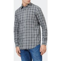 Diesel Men's S-Cull-A Long Sleeve Checked Shirt - Vapourous Gray - L - Blue