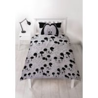 Mickey Mouse Sillhouette Duvet Set - Single