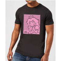 Nintendo Super Mario Princess Peach Retro Line Art Men's T-Shirt - Black - 4XL - Black