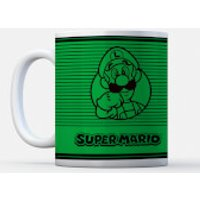Nintendo Super Mario Luigi Retro Line Art Colour Mug