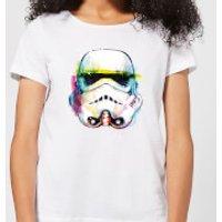 Star Wars Stormtrooper Paintbrush Women's T-Shirt - White - 3XL - White