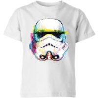 Star Wars Stormtrooper Paintbrush Kids' T-Shirt - White - 3-4 Years - White