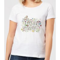 I'd Rather Wear Flowers In My Hair Than Diamonds Around My Neck Women's T-Shirt - White - 5XL - White - Diamonds Gifts