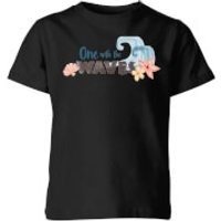 Moana One with The Waves Kids' T-Shirt - Black - 7-8 Years - Black
