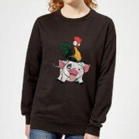 Moana Hei Hei and Pua Women's Sweatshirt - Black - XS - Black