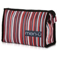 men-u Stripes Toiletry Bag - Blue/Red/White