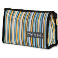 men-u Stripes Toiletry Bag - Grey/Blue/Yellow