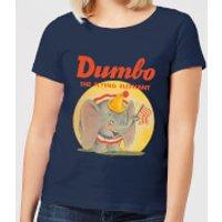 Dumbo Flying Elephant Women's T-Shirt - Navy - L - Navy