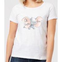 Dumbo Happy Day Women's T-Shirt - White - S - White
