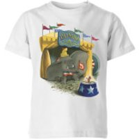 Dumbo Circus Kids' T-Shirt - White - 9-10 Years - White