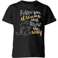 Dumbo Follow Your Dreams Kids' T-Shirt - Black - 9-10 Years - Black