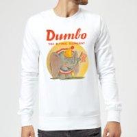 Dumbo Flying Elephant Sweatshirt - White - L - White
