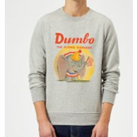Dumbo Flying Elephant Sweatshirt - Grey - 3XL - Grey - Elephant Gifts