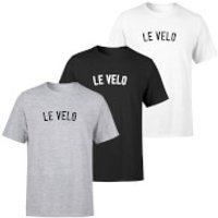 Le Velo Men's T-Shirt - M - Grey