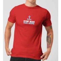 Plain Lazy Stop War Hug More Men's T-Shirt - Red - S - Red