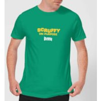 Plain Lazy Scruffy On Purpose Men's T-Shirt - Kelly Green - M - Kelly Green