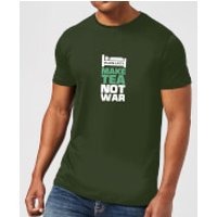 Plain Lazy Make Tea Not War Men's T-Shirt - Forest Green - XXL - Forest Green