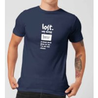 Plain Lazy Lost My Energy Men's T-Shirt - Navy - XL - Navy